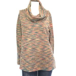 NATURAL REFLECTIONS Cowl Neck Tunic Sweater SIZE L
